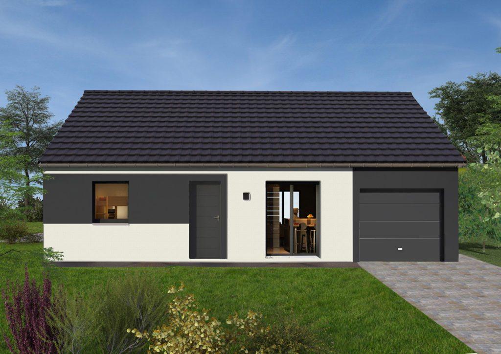 Modèle de maison 73 m² avec garage