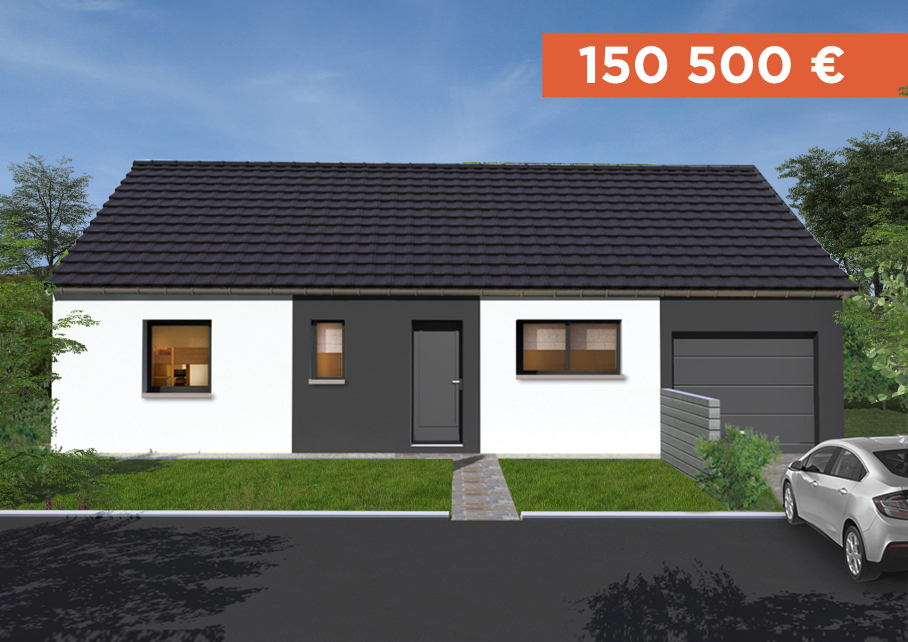 maison start avec garage et terrain varennes le grand en sa ne et loire. Black Bedroom Furniture Sets. Home Design Ideas