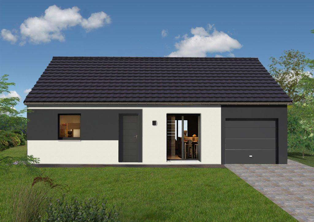 Modèle de maison 70 m² avec garage