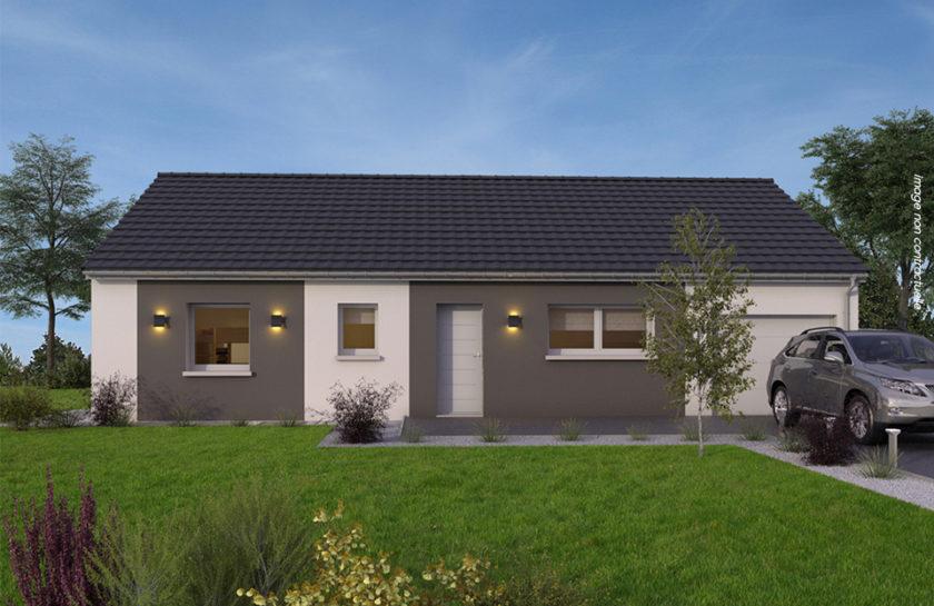 modèle de maison 100 m² contemporaine