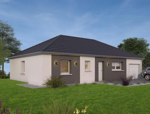 modèle de maison 100 m² garage
