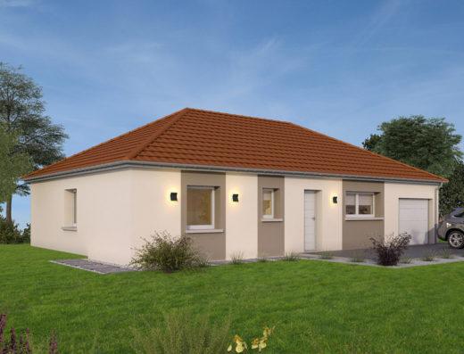 modèle maison 100 m² avec garage