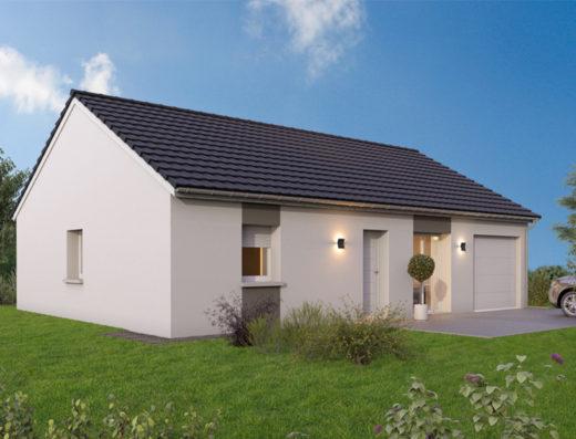 modèle de maison 80m² avec garage