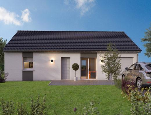 modèle de maison 80 m² avec garage