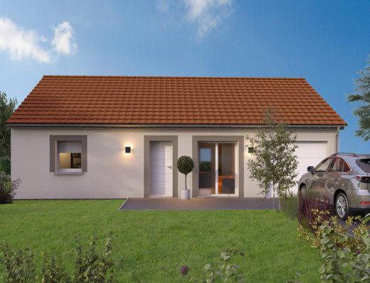 modèle maison 80 m² garage