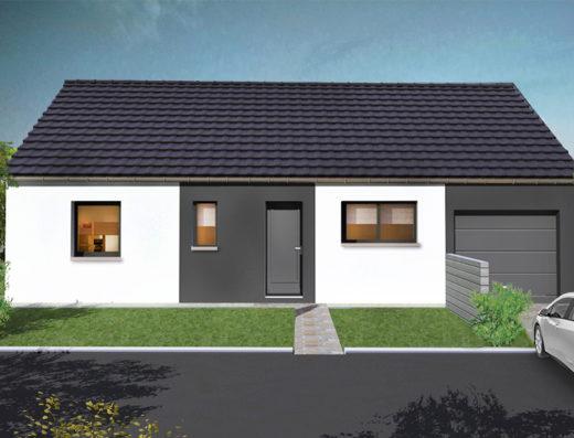 modèle maison 90 m² garage